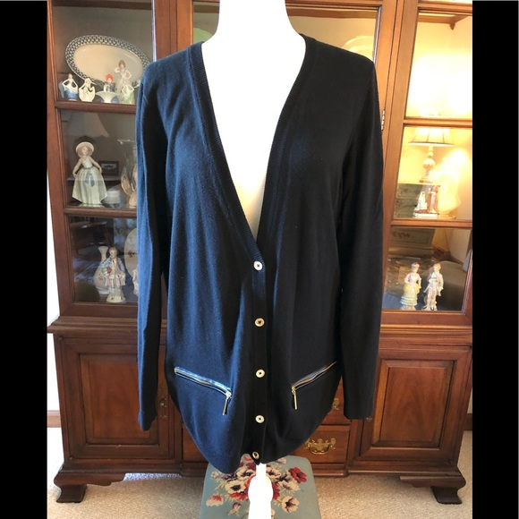 Michael Kors Zip Pocket Cardigan Free Gift